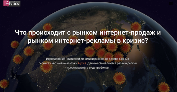 Alytics запустил сайт с актуальной аналитикой интернет-рекламы в период коронакризиса