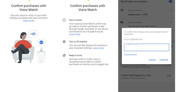 Google Assistant позволит подтверждать покупки голосом