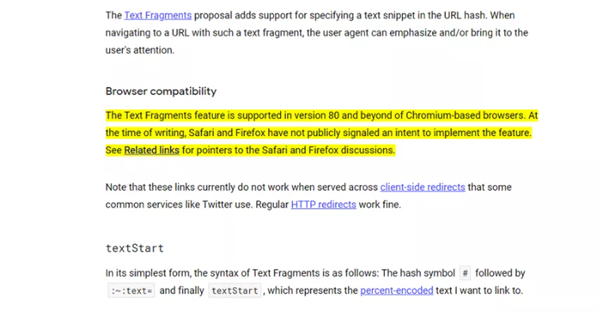 A new extension of Google allows you to create links to a specific page fragment