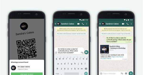 В WhatsApp Business добавили поддержку QR-кодов и возможность делиться каталогами